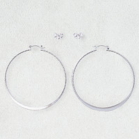 AEO Hoop & Studs Earrings 2-Pack, Silver