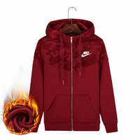 Nike: cotton and cashmere fashion lovers unlined sport leisure Hoodie for men and women