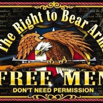 THE RIGHT TO BEAR ARMS 3 X 5 MILITARY FLAG #586 biker 2nd amendment new GUNS