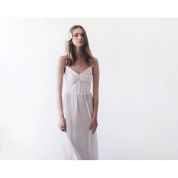 Ivory Simple Ballerina Maxi Dress 1064