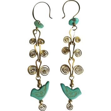 Egyptian Coil Linked Earrings