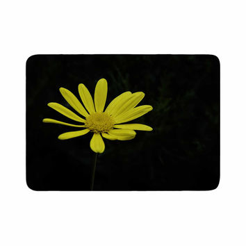 "Nick Nareshni ""Yellow Petal Daisy"" Floral Photography Memory Foam Bath Mat"