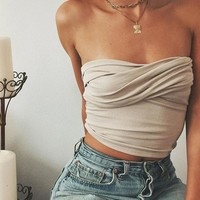 Hot Comfortable Bralette Wrap Summer Slim Sexy Bra [471517659177]