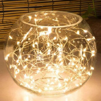 Extra Long Copper Wire Lights. LED String Lights, 99FT 300LED. Warm White Firefly Fairy Lights for Party, Weddings, Holiday or Christmas. Water Proof Great for Patio. A/C Adapter Included.