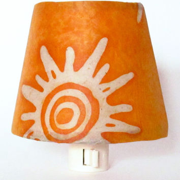 Sun Night Light - Orange Nursery Decor, Kids Night Light, Baby Nightlight, Decorative Night Lights