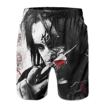 Nikki Sixx DeviantArt Sixx AM Rock Band Mens Fashion Casual Beach Shorts