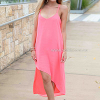 ELLIE MAXI , DRESSES, TOPS, BOTTOMS, JACKETS & JUMPERS, ACCESSORIES, 50% OFF END OF YEAR SALE, PRE ORDER, NEW ARRIVALS, PLAYSUIT, COLOUR, GIFT VOUCHER,,MAXIS,Pink,SLEEVELESS Australia, Queensland, Brisbane