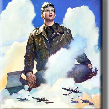 US Airforce Plane Pilot Picture on Acrylic , Wall Art decor, Ready to Hang!