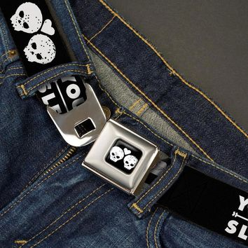 Sleeping With Sirens Men's  Your Forever Is All I Need Seatbelt Buckle Belt Black