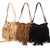 Lady Madonna Boho Fringe Purse
