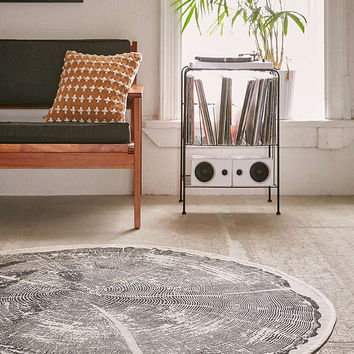 Tree Ring Printed Rug - Urban Outfitters