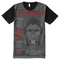 ZOMBIES Undead - The Magazine 2 Grey All-Over-Print Shirt