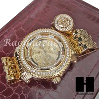 HIP HOP ICED SET ICED OUT LIL UZI RAPPER 14K GOLD WATCH MEDUSA RING SET L029