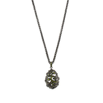 Pave Faberge Egg Pendant