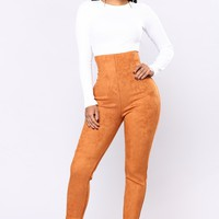 Ritta Suede Leggings - Tan