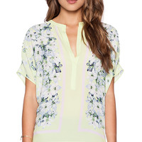 BCBGMAXAZRIA Ayanna Top in Lime