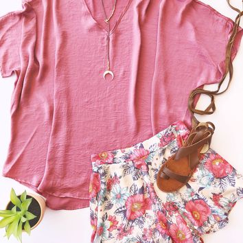 Welcome Sunshine Satin Tunic