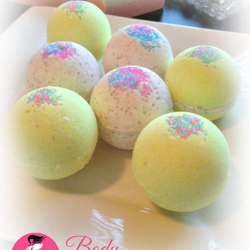 Bath Bomb Fizzy - Peppermint Candy Handmade Bath and Body Home Spa