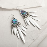 Silver Abalone Chandelier Earrings