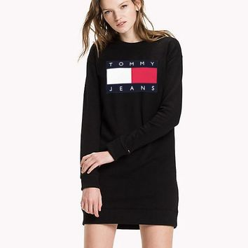 Tommy Jeans Unisex Lover's Top Long Tee T-shirt dress