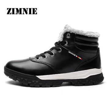 ZIMNIE New Hot Style Men Hiking Shoes Winter Warm Fur Outdoor Walking Shoes Mountain Sport Boots Climbing Sneakers Free Shipping