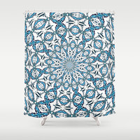 Snowflake Shower Curtain by Stay Inspired | Society6
