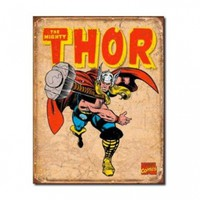 "Thor Retro Metal Tin Sign 16""h X 12.5""w"