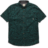 Vans Clawson Short Sleeve Shirt with Animal Print