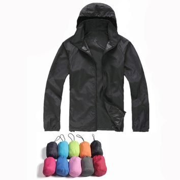 New Mens Women Casual Jackets Windproof Ultra-light Jacket Men Army Windbreaker Quick Dry Skin Coat