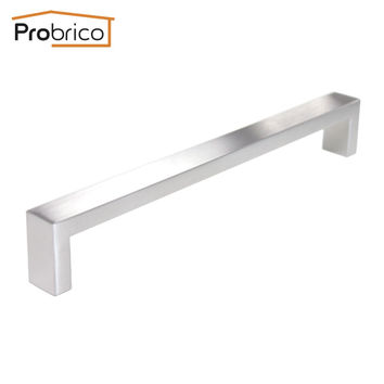 Probrico 10 Pcs 10Mm*20Mm Square Bar Handle Stainless Steel Hole Spacing 224Mm Cabinet Door Knob Drawer Pull Pddj30Hss224