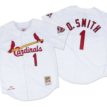 Mitchell & Ness Ozzie Smith 1992 Authentic Jersey St. Louis Cardinals In White - Beauty Ticks