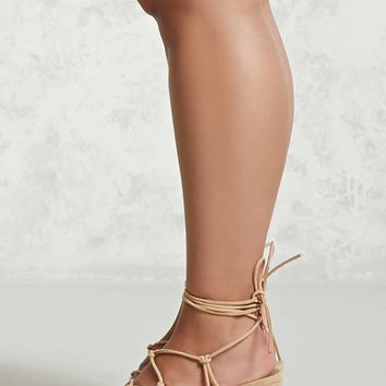 Lace-Up Block Heels (Wide)