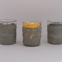 Votive Candleholders, Concrete Candle Holders, Industrial Candle Holders, Cement Candleholders, Votive Holders, Votive Candle Holders - 3