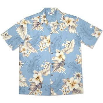 sky hawaiian cotton shirt