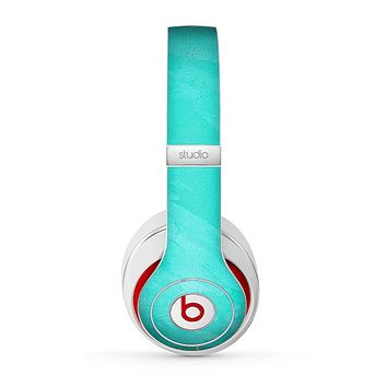 The Subtle Neon Turquoise Surface Skin for the Beats by Dre Studio (2013+ Version) Headphones