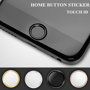 5x Ultra Slim Fingerprint Support Touch ID Metal Home Button Sticker For iPhone 7 7PLUS 6 6S PLUS 5 5S 5G 5C SE With retail Pack