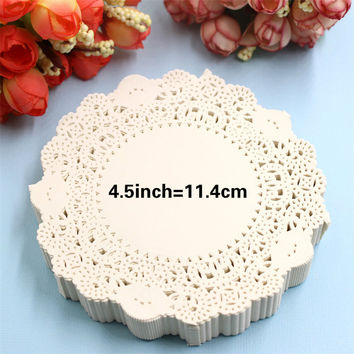 "SS1621 4.5"" Vintage napkin Hollowed Lace Paper mat Doilies Crafts DIY Scrapbooking/Card Making/Wedding Decoration(180pcs/bag)"