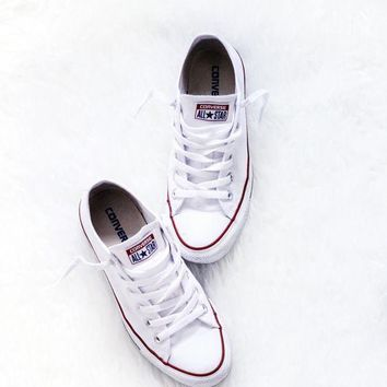 Converse Fashion Canvas Flats Sneakers Sport Shoes white-3