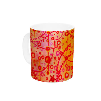 "Ebi Emporium ""Make A Wish"" Orange Red Ceramic Coffee Mug"