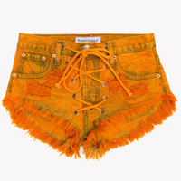 Rodeo Lace Up Sahara Babe Shorts