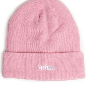 The Married to the Mob Logo Beanie in Pink