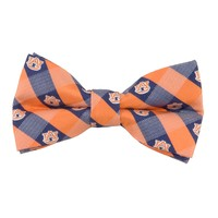 Auburn Tigers Check Style Bow Tie