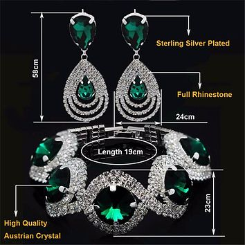 Rhinestone Austrian Crystal Jewelry Set