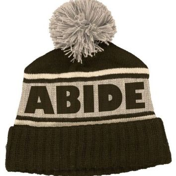 The Big Lebowski Abide Retro Brown and Beige Beanie Hat