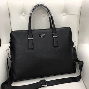 HCXX 19June 498 Prada Leather Fashion Handbag