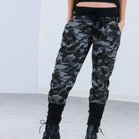 First In Command Banded Camo Joggers GoJane.com