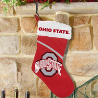 Ohio State Buckeyes Swoop Logo Stocking - Scarlet - http://www.shareasale.com/m-pr.cfm?merchantID=7124&userID=1042934&productID=555875617 / Ohio State Buckeyes
