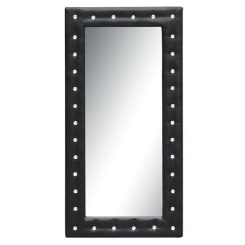 "Tufted Mirror 36"", Black"