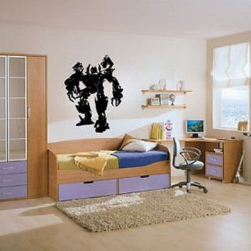 Transformer Big Powerful Robot Wall Decor Vinyl Decal Sticker Mural Interior Des
