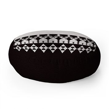 Viviana Gonzalez Black and white collection 04 Floor Pillow Round